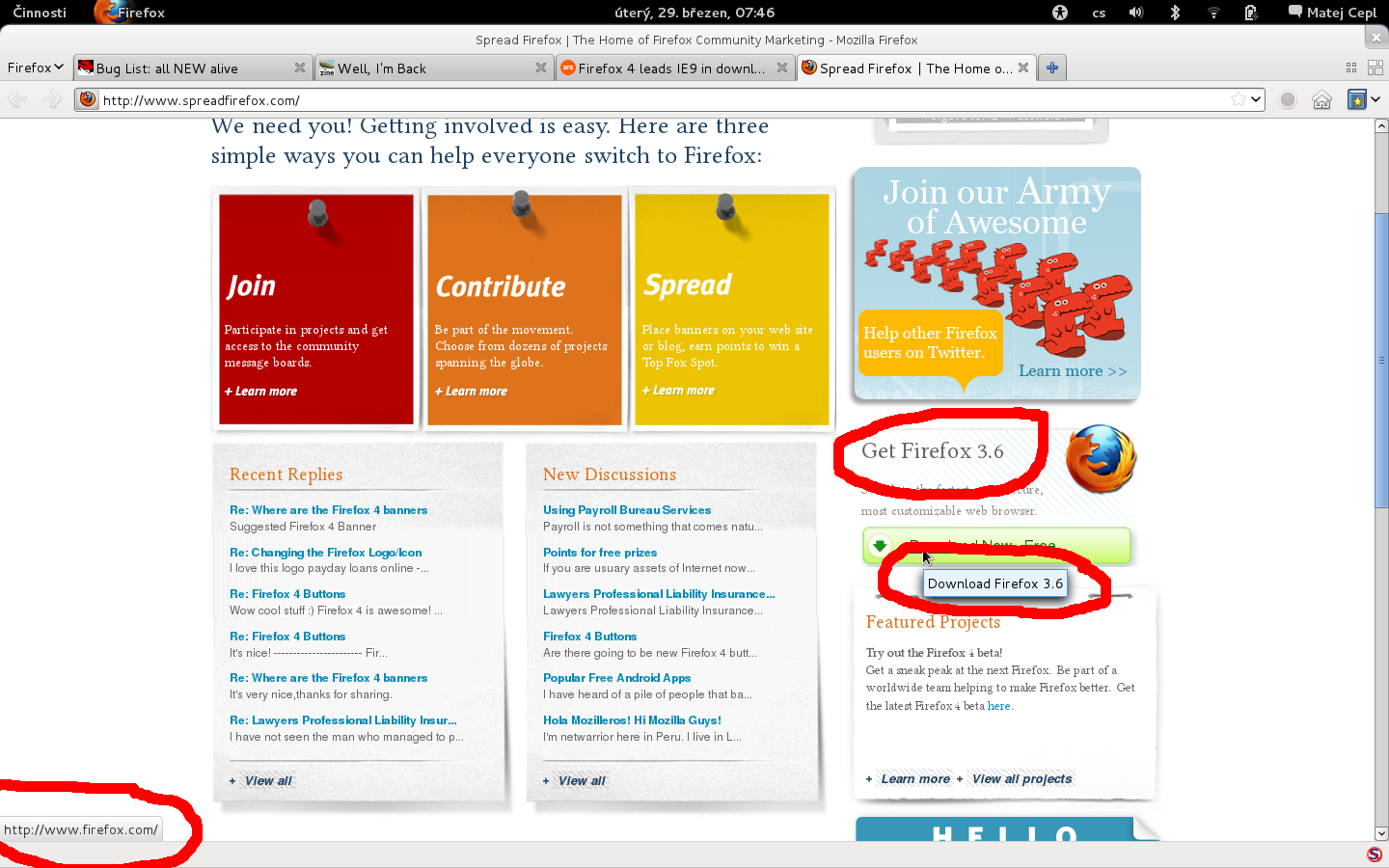 amusing mistake on the spreadfirefox page